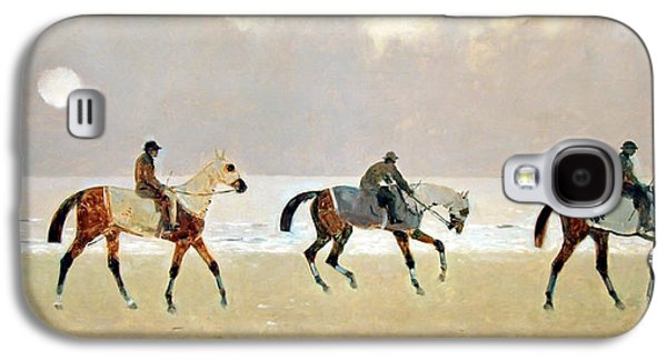 Princeteau's Riders On The Beach At Dieppe Galaxy S4 Case by Cora Wandel