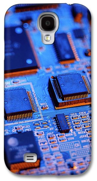 Printed Circuit Board Galaxy S4 Case by Mark Sykes