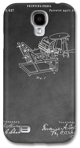 Printing Press Patent Drawing Galaxy S4 Case by Dan Sproul
