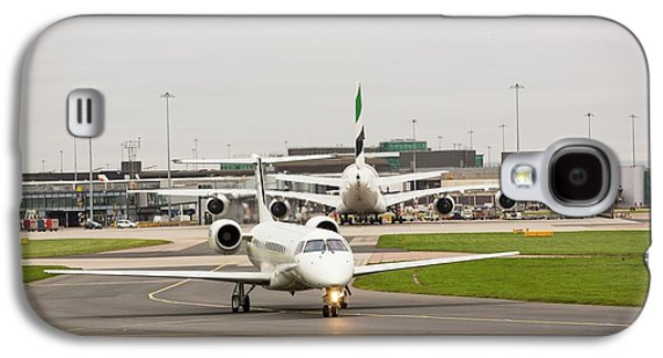 Private Jet At Manchester Airport Galaxy S4 Case