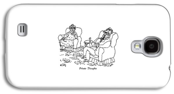 Private Thoughts Galaxy S4 Case by William Steig