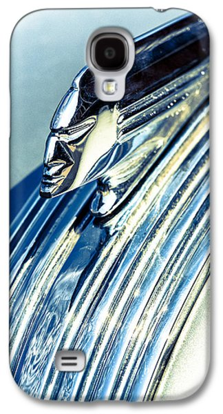 Silver Turquoise Galaxy S4 Case - Profile In Chrome by Caitlyn  Grasso