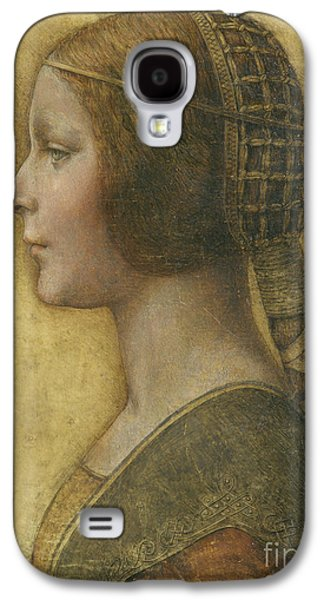 Profile Of A Young Fiancee Galaxy S4 Case by Leonardo Da Vinci