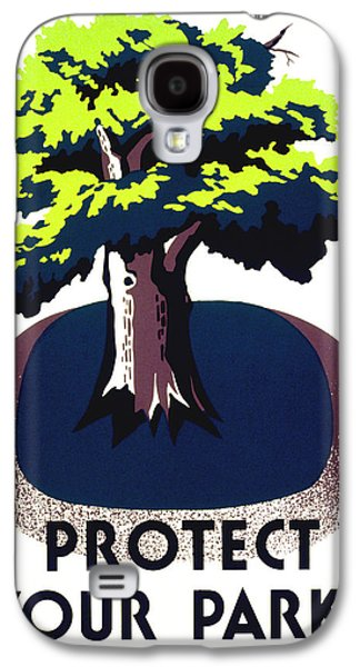 Protect Your Parks Wpa Galaxy S4 Case by War Is Hell Store
