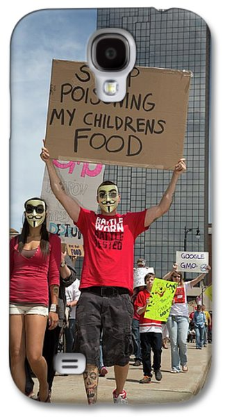 Protest Against Gm Crops Galaxy S4 Case by Jim West