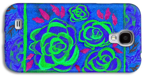 Psychedelic Roses - Summer Galaxy S4 Case