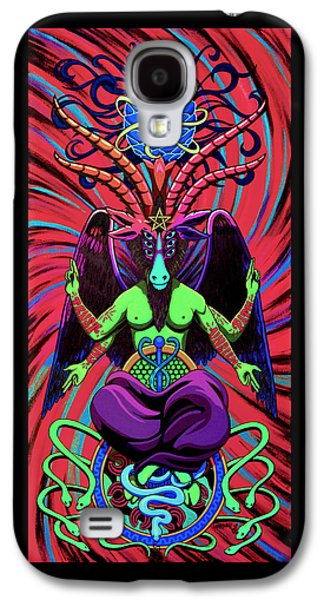 Psychtanic Baphodelic Super Goat On Dmt Galaxy S4 Case by Steve Hartwell