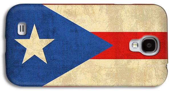 Puerto Rico Flag Vintage Distressed Finish Galaxy S4 Case