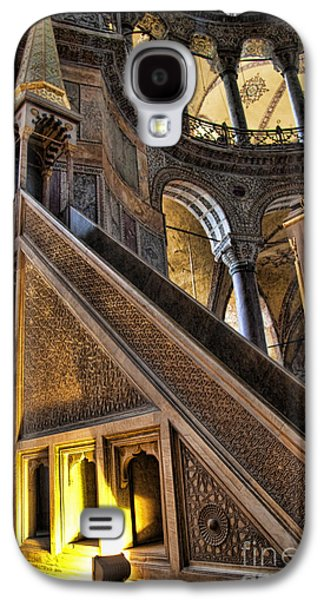 Pulpit In The Aya Sofia Museum In Istanbul  Galaxy S4 Case by David Smith