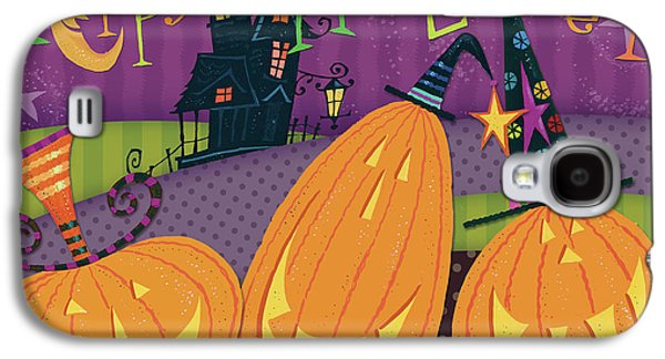 Pumpkins Night Out - Happy Halloween Galaxy S4 Case