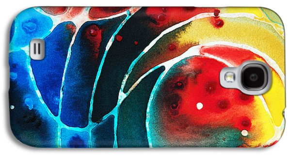 Pure Joy 2 - Abstract Art By Sharon Cummings Galaxy S4 Case by Sharon Cummings