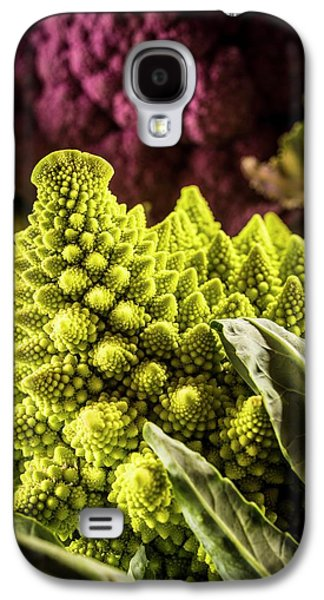 Purple And Romanesque Cauliflowers Galaxy S4 Case