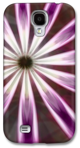 Purple And White Fractal Flower  Galaxy S4 Case