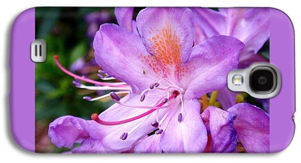 Purple Azalea Galaxy S4 Case by Rona Black
