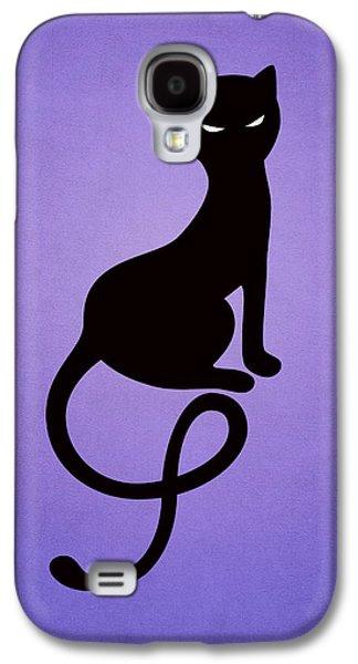 Purple Gracious Evil Black Cat Galaxy S4 Case by Boriana Giormova