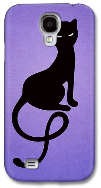 Purple Gracious Evil Black Cat Galaxy S4 Case