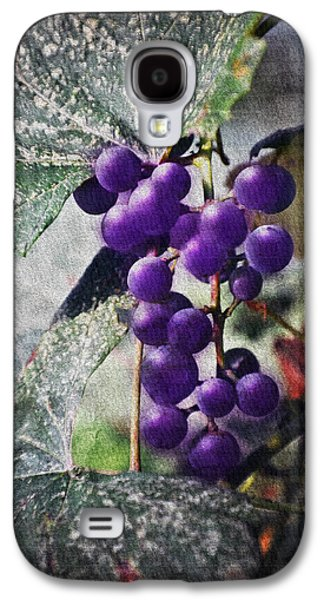 Purple Grapes - Oil Effect Galaxy S4 Case by Brian Wallace