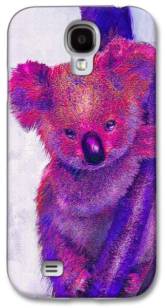 Purple Koala Galaxy S4 Case by Jane Schnetlage