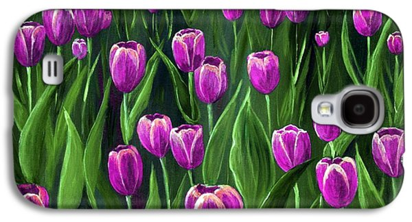 Purple Tulip Field Galaxy S4 Case by Anastasiya Malakhova