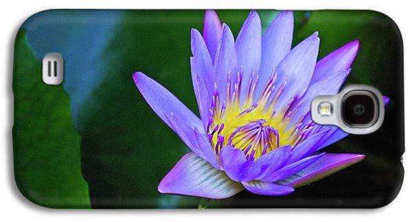 Purple Water Lily Galaxy S4 Case