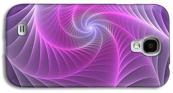 Purple Web Galaxy S4 Case