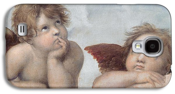 Putti Detail From The Sistine Madonna Galaxy S4 Case by Raphael