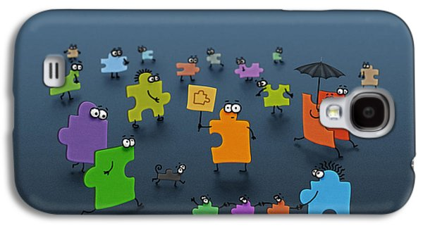 Puzzle Family Galaxy S4 Case by Gianfranco Weiss