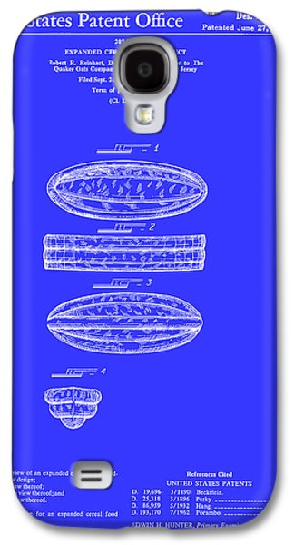 Quaker Oats Cereal Food Patent 1967 Galaxy S4 Case by Mountain Dreams