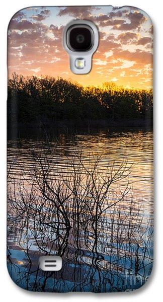 Quanah Parker Lake Sunrise Galaxy S4 Case by Inge Johnsson