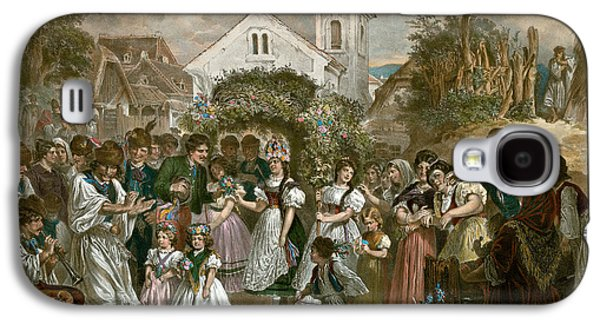 Queen Of Pentecost, Hungary, 19th Century, Village Party Galaxy S4 Case