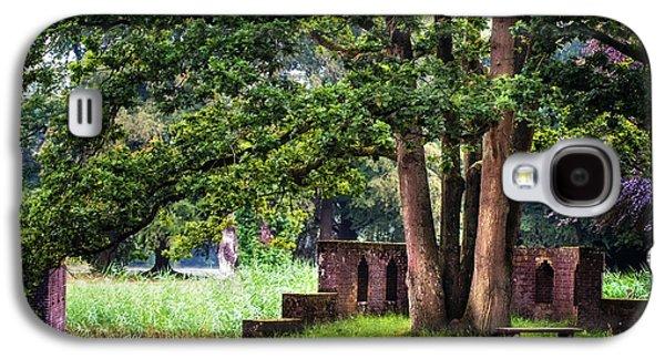 Quiet Park Corner. De Haar Castle Galaxy S4 Case by Jenny Rainbow