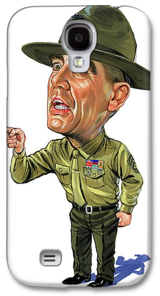 R. Lee Ermey As Gunnery Sergeant Hartman Galaxy S4 Case by Art