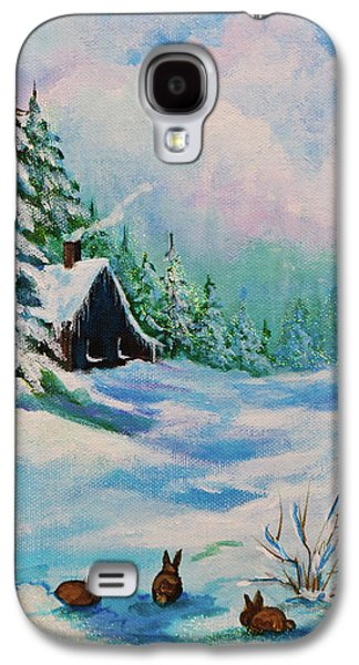 Rabbits Waiting For Spring Galaxy S4 Case by Bob and Nadine Johnston