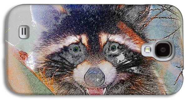 Raccoon Face Galaxy S4 Case by David Lee Thompson
