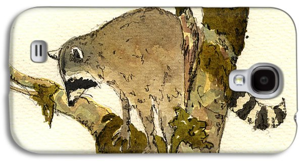 Raccoon Galaxy S4 Case - Raccoon On A Tree by Juan  Bosco