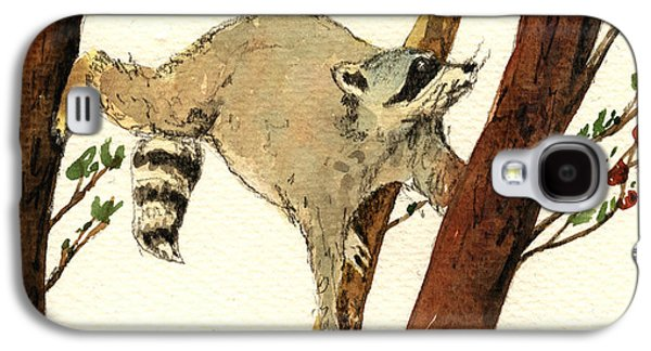 Raccoon Galaxy S4 Case - Raccoon On Tree by Juan  Bosco