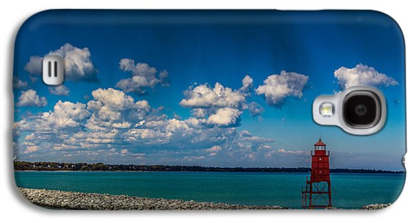 Racine Harbor Lighthouse Galaxy S4 Case by Randy Scherkenbach