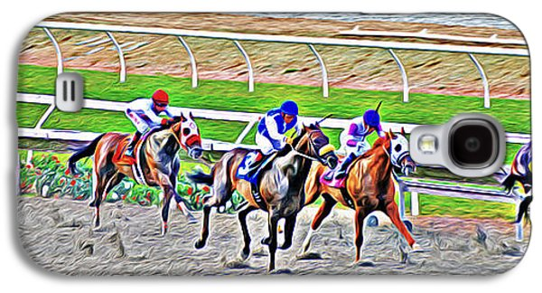 Racing Horses Galaxy S4 Case by Christine Till