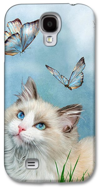 Ragdoll Kitty And Butterflies Galaxy S4 Case