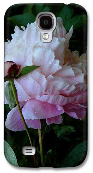 Rain-soaked Peonies Galaxy S4 Case by Rona Black