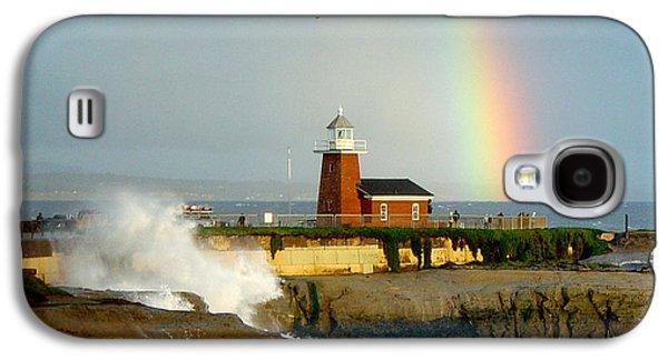 Rainbow At Santa Cruz Lighthouse Galaxy S4 Case