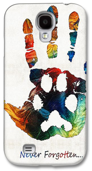 Rainbow Bridge Art - Never Forgotten - By Sharon Cummings Galaxy S4 Case by Sharon Cummings