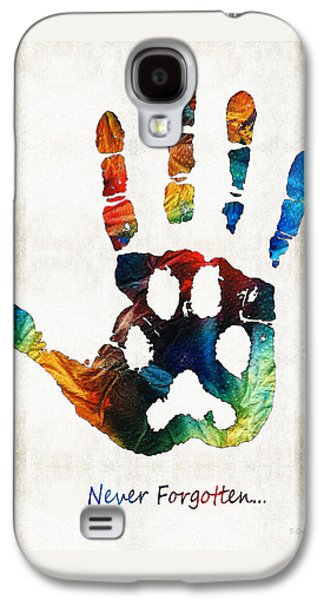 Bridges Galaxy S4 Case - Rainbow Bridge Art - Never Forgotten - By Sharon Cummings by Sharon Cummings