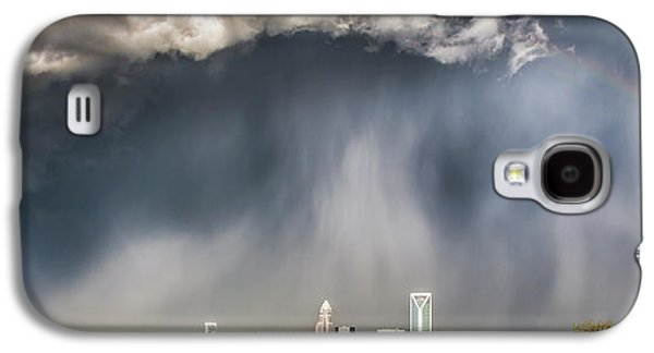 City Scenes Galaxy S4 Case - Rainbow Over Charlotte by Chris Austin