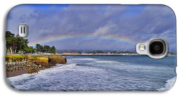 Rainbow Over Santa Cruz Galaxy S4 Case by Randy Straka