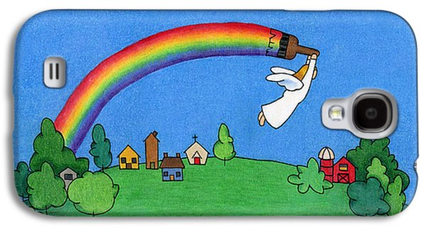 Rainbow Painter Galaxy S4 Case by Sarah Batalka