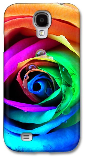 Rainbow Rose Galaxy S4 Case