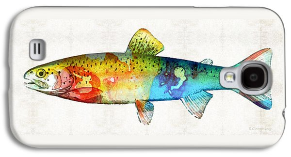Rainbow Trout Art By Sharon Cummings Galaxy S4 Case by Sharon Cummings