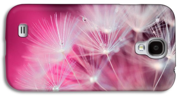 Raindrops On Dandelion Magenta Galaxy S4 Case by Marianna Mills