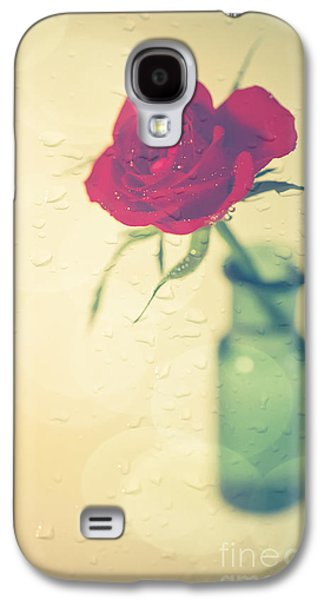 Rose Galaxy S4 Case - Raindrops On Roses . . . by Jan Bickerton